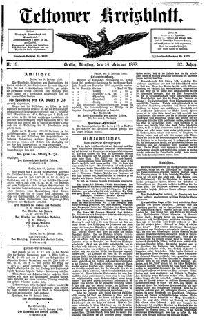Teltower Kreisblatt vom 14.02.1888