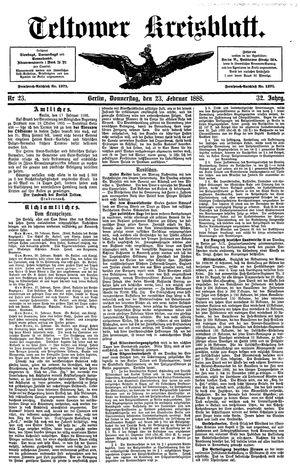 Teltower Kreisblatt vom 23.02.1888