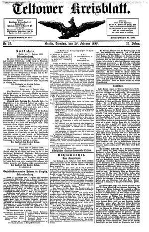 Teltower Kreisblatt vom 28.02.1888