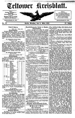 Teltower Kreisblatt vom 06.03.1888