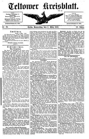 Teltower Kreisblatt vom 08.03.1888