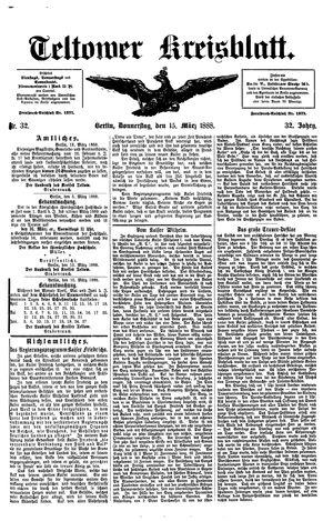 Teltower Kreisblatt vom 15.03.1888