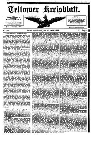 Teltower Kreisblatt vom 17.03.1888