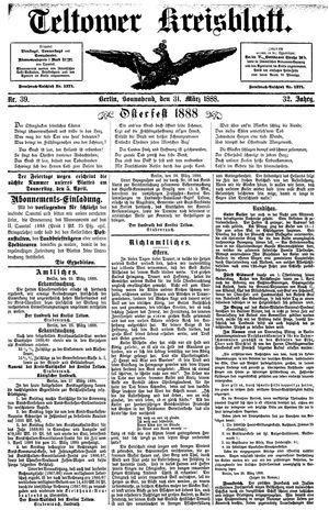 Teltower Kreisblatt vom 31.03.1888