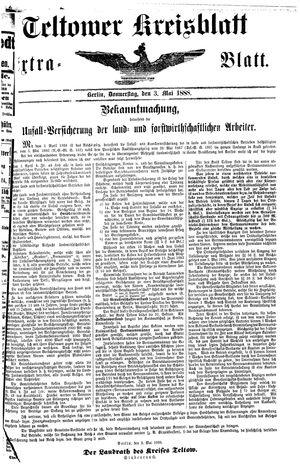 Teltower Kreisblatt vom 03.05.1888