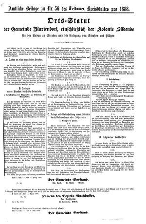 Teltower Kreisblatt vom 15.05.1888