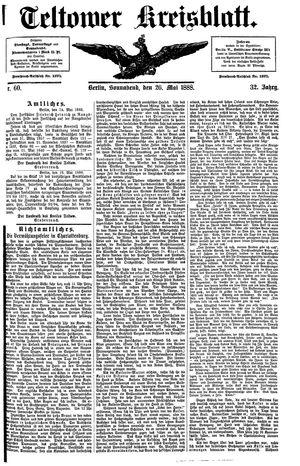 Teltower Kreisblatt on May 26, 1888