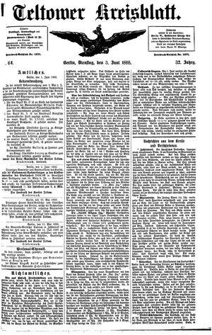 Teltower Kreisblatt vom 05.06.1888