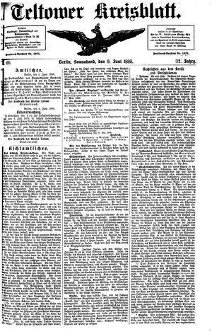 Teltower Kreisblatt vom 09.06.1888