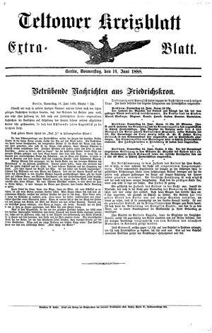 Teltower Kreisblatt vom 14.06.1888