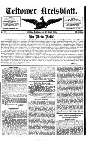 Teltower Kreisblatt vom 19.06.1888