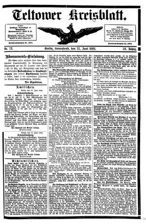 Teltower Kreisblatt vom 23.06.1888