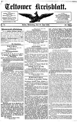Teltower Kreisblatt vom 28.06.1888