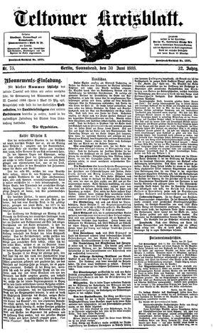 Teltower Kreisblatt vom 30.06.1888