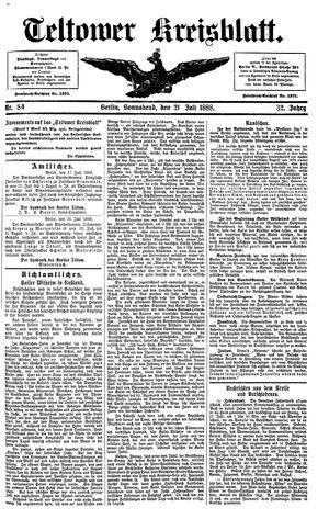 Teltower Kreisblatt vom 21.07.1888
