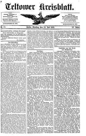 Teltower Kreisblatt vom 24.07.1888