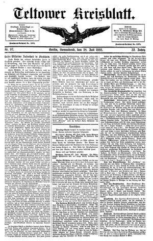 Teltower Kreisblatt vom 28.07.1888