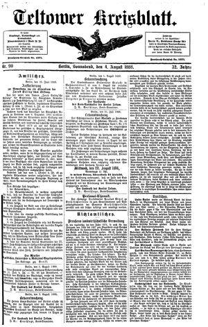 Teltower Kreisblatt vom 04.08.1888
