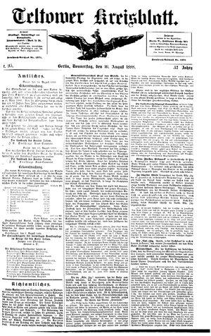 Teltower Kreisblatt vom 16.08.1888