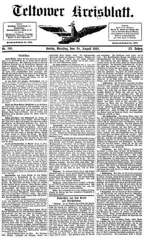 Teltower Kreisblatt vom 28.08.1888