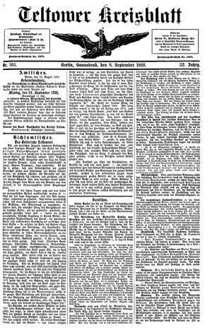 Teltower Kreisblatt vom 08.09.1888