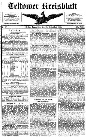 Teltower Kreisblatt vom 13.09.1888