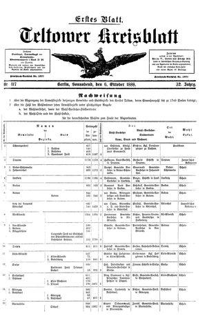 Teltower Kreisblatt vom 06.10.1888