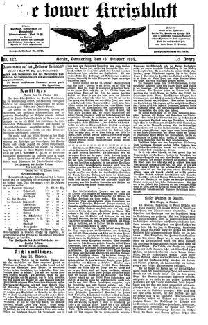 Teltower Kreisblatt vom 18.10.1888