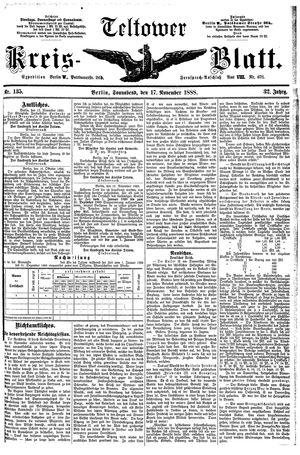 Teltower Kreisblatt vom 17.11.1888