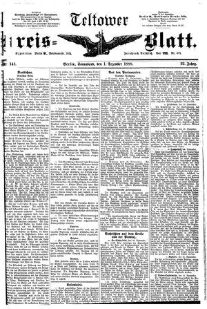 Teltower Kreisblatt vom 01.12.1888