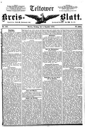 Teltower Kreisblatt vom 04.12.1888