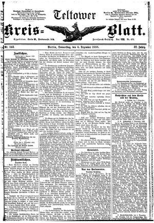 Teltower Kreisblatt vom 06.12.1888