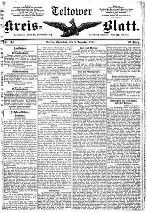 Teltower Kreisblatt vom 08.12.1888