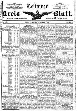 Teltower Kreisblatt on Dec 11, 1888