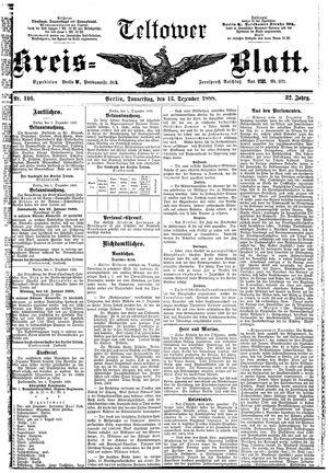 Teltower Kreisblatt vom 13.12.1888