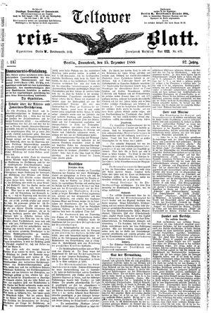 Teltower Kreisblatt vom 15.12.1888