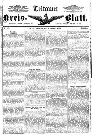 Teltower Kreisblatt vom 20.12.1888