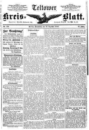 Teltower Kreisblatt vom 22.12.1888