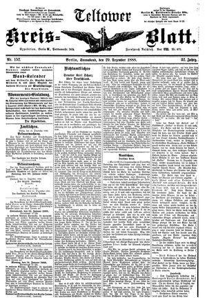 Teltower Kreisblatt vom 29.12.1888