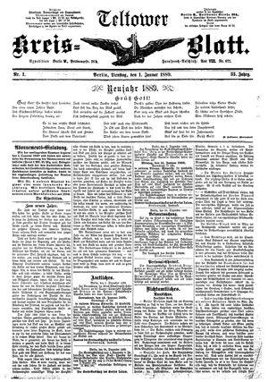 Teltower Kreisblatt vom 01.01.1889