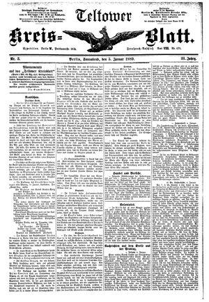 Teltower Kreisblatt on Jan 5, 1889