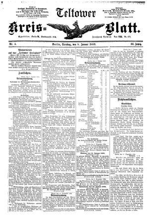 Teltower Kreisblatt vom 08.01.1889