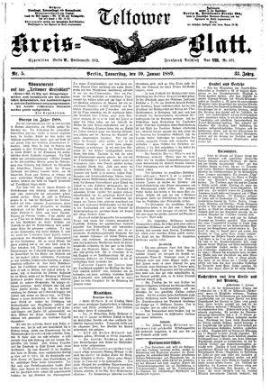 Teltower Kreisblatt vom 10.01.1889