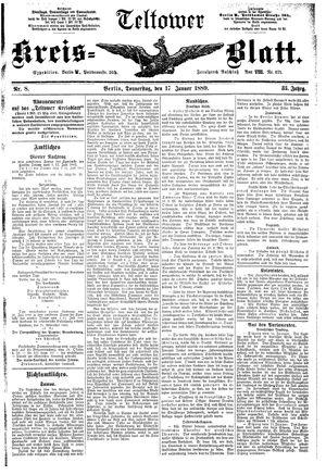 Teltower Kreisblatt vom 17.01.1889