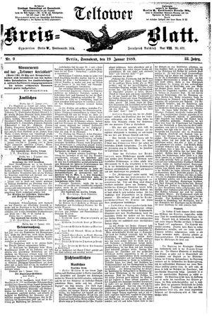 Teltower Kreisblatt vom 19.01.1889