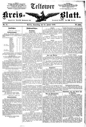 Teltower Kreisblatt vom 24.01.1889