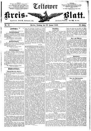 Teltower Kreisblatt vom 29.01.1889