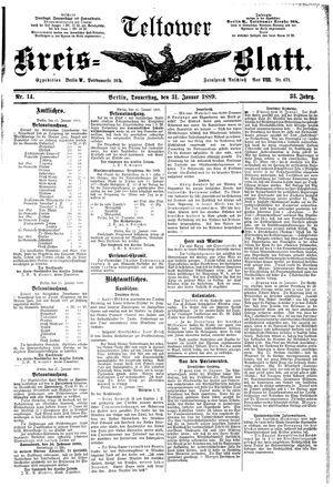 Teltower Kreisblatt on Jan 31, 1889