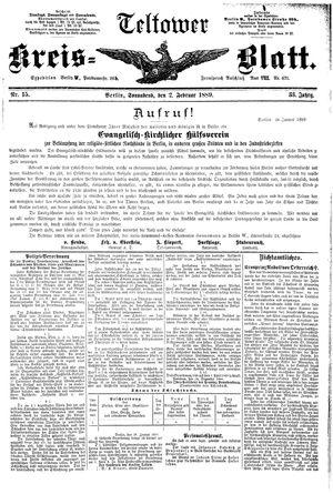 Teltower Kreisblatt on Feb 2, 1889