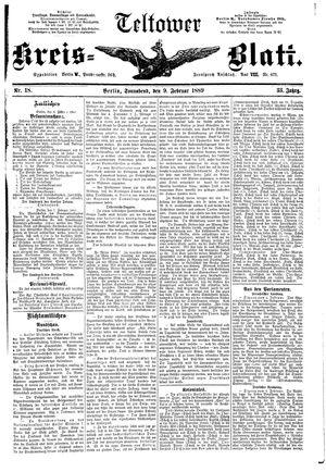 Teltower Kreisblatt on Feb 9, 1889